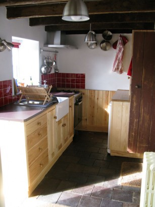 View of the refurbished kitchen
